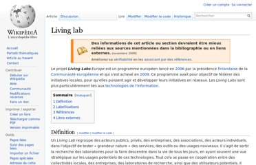 http://fr.wikipedia.org/wiki/Living_lab
