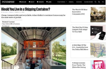 http://www.fastcompany.com/1197034/would-you-live-shipping-container