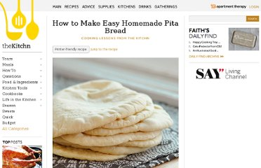 http://www.thekitchn.com/how-to-make-homemade-pita-bread-90844