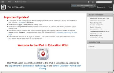 http://palmbeachschooltalk.com/wiki/projects/ipadineducation/iPad_in_Education.html