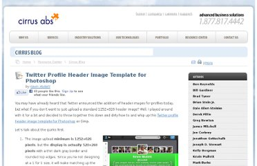 http://www.cirrusabs.com/blog/twitter-profile-header-image-template-for-photoshop/
