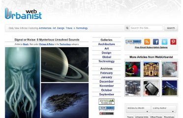 http://weburbanist.com/2010/06/07/signal-or-noise-8-mysterious-unsolved-sounds/