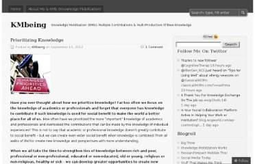 http://kmbeing.com/2012/09/15/prioritizing-knowledge/