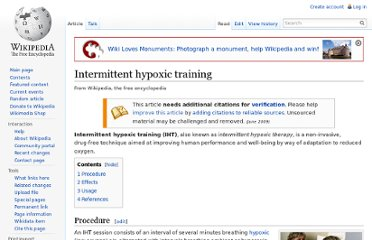 http://en.wikipedia.org/wiki/Intermittent_hypoxic_training