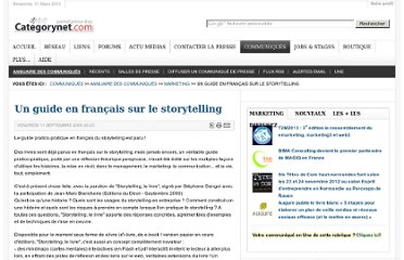 http://www.categorynet.com/communiques-de-presse/marketing/un-guide-en-francais-sur-le-storytelling-20090911103327/