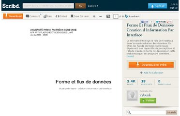 http://fr.scribd.com/doc/28991755/Forme-Et-Flux-de-Donnees-Creation-d-Information-Par-Interface