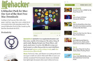 http://lifehacker.com/5562864/lifehacker-pack-for-mac-our-essential-list-of-the-best-free-mac-downloads