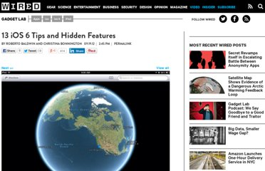 http://www.wired.com/gadgetlab/2012/09/ios-6-tips-and-hidden-features/
