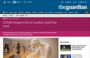 http://www.guardian.co.uk/travel/2012/jul/26/50-free-things-west-london-kensington