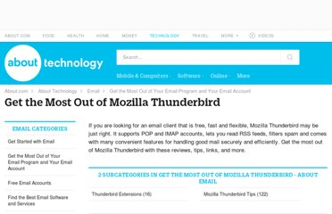 http://email.about.com/od/mozillathunderbird/Get_the_Most_Out_of_Mozilla_Thunderbird.htm