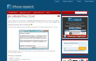 http://iphone-apple.fr/2007/12/17/tuto-jailbreaker-iphone-112-oob/