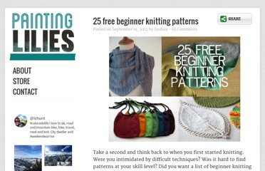 http://paintinglilies.com/knitting/2-free-beginner-knitting-patterns/