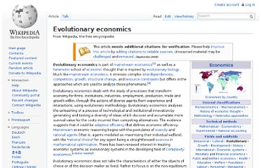 http://en.wikipedia.org/wiki/Evolutionary_economics