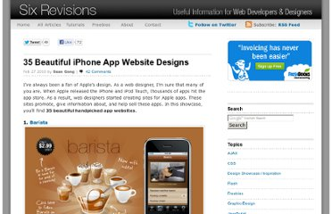 http://sixrevisions.com/design-showcase-inspiration/35-beautiful-iphone-app-website-designs/