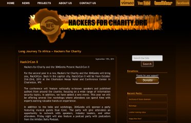 http://www.hackersforcharity.org/category/long-journey/