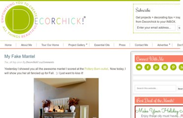 http://www.decorchick.com/my-fake-mantel/