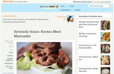 http://www.seriouseats.com/2011/03/asian-korean-barbecue-meat-marinades.html
