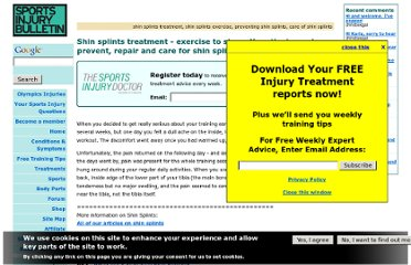 http://www.sportsinjurybulletin.com/archive/0161-shin-splints-treatment.htm