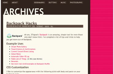 http://gtmcknight.com/log/archives/2005/09/27/backpack_hacks.php