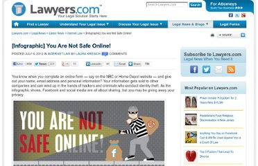 http://blogs.lawyers.com/2012/07/you-are-not-safe-online/