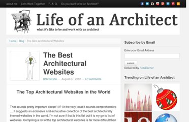 http://www.lifeofanarchitect.com/the-best-architectural-websites/