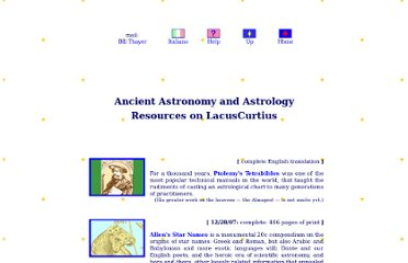 http://penelope.uchicago.edu/Thayer/E/Gazetteer/Topics/astronomy/home.html