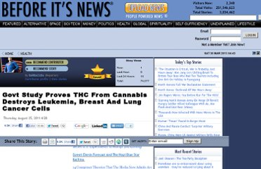 http://beforeitsnews.com/health/2011/08/govt-study-proves-thc-from-cannabis-destroys-leukemia-breast-and-lung-cancer-cells-1003374.html