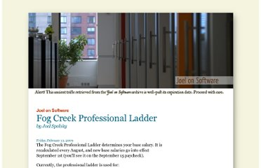http://www.joelonsoftware.com/articles/Ladder.html