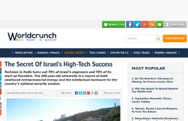 http://www.worldcrunch.com/secret-israel-s-high-tech-success/culture-society/the-secret-of-israel-s-high-tech-success/c3s3672/