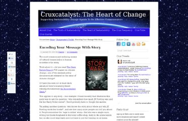 http://www.cruxcatalyst.com/2012/01/30/encoding-message-with-story/
