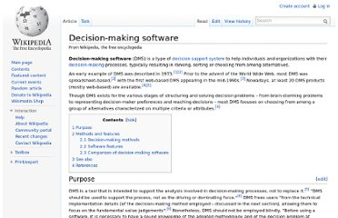 http://en.wikipedia.org/wiki/Decision-making_software