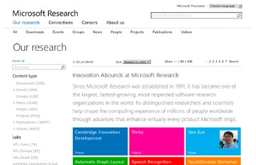 http://research.microsoft.com/apps/catalog/default.aspx