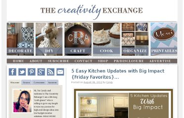 http://www.thecreativityexchange.com/2012/08/5-easy-kitchen-updates-with-big-impact-friday-favorites.html