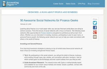 http://www.accountingdegree.com/blog/2009/50-awesome-social-networks-for-finance-geeks/