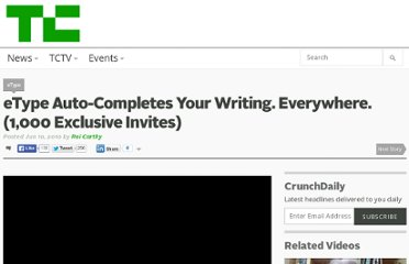 http://techcrunch.com/2010/06/10/etype-auto-completes-your-writing-everywhere-1000-exclusive-invites/