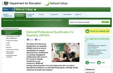 http://www.education.gov.uk/nationalcollege/index/professional-development/npqh.htm