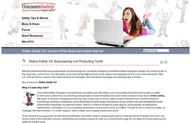 http://www.connectsafely.org/Commentaries-Staff/online-safety-30-empowering-and-protecting-youth.html