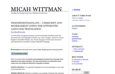 http://wittman.org/friendfeedtranslate-userscript-and-bookmarklet-new-for-integrated-language-translation/