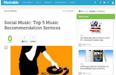 http://mashable.com/2009/02/02/music-recommendation-services/