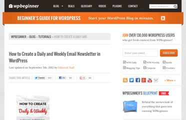 http://www.wpbeginner.com/wp-tutorials/how-to-create-a-daily-and-weekly-email-newsletter-in-wordpress/