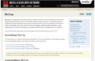 https://developer.mozilla.org/en-US/docs/McCoy#Running_McCoy_from_command_line
