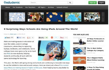 http://edudemic.com/2012/09/9-surprising-ways-schools-ipads-world/