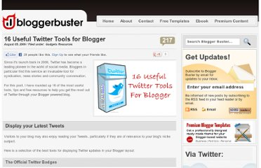 http://www.bloggerbuster.com/2009/08/16-useful-twitter-tools-for-blogger.html