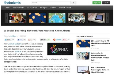 http://edudemic.com/2012/09/sophia-social-network-launch/