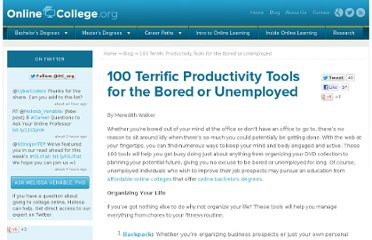 http://www.onlinecollege.org/2009/05/26/100-terrific-productivity-tools-for-the-bored-or-unemployed/