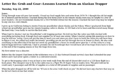 http://www.survivalblog.com/2009/09/letter_re_grub_and_gearlessons.html
