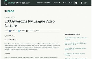 http://www.onlineuniversities.com/blog/2008/11/100-awesome-ivy-league-video-lectures/