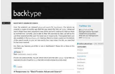 http://blog.backtype.com/2009/05/backtweets-advanced-search/
