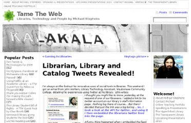 http://tametheweb.com/2008/11/25/librarian-library-and-catalog-tweets-revealed/