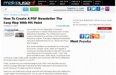 http://www.makeuseof.com/tag/how-to-create-a-pdf-newsletter-the-easy-way-with-ms-paint/